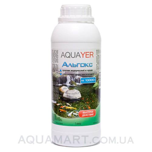 AQUAYER Альгокс 1 л – средство против зеленых водорослей в прудах