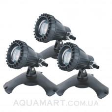 Светильник для пруда SunSun CQD-120C, 3 светильника по 20 Вт