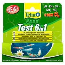 Tetra Pond Test 6 in1 набор полосок - тестов для быстрой и надежной проверки показателей качества воды