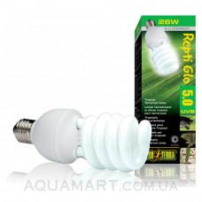 Лампа для тропического террариума ExoTerra Repti Glo 5.0 Compact 26W (Hagen РТ 2187)